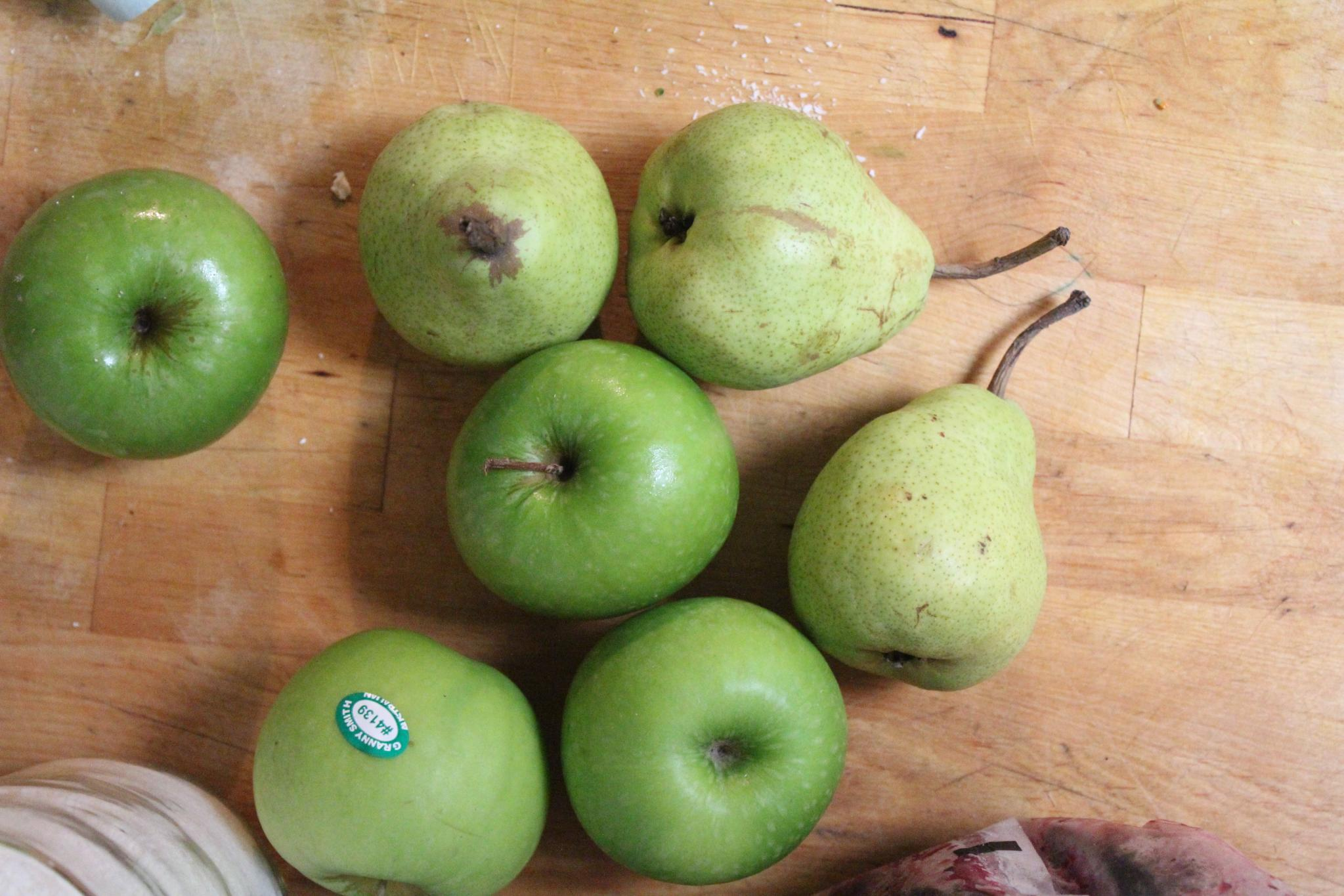 Apples and Pear with PLU